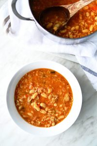white beans & rice soup