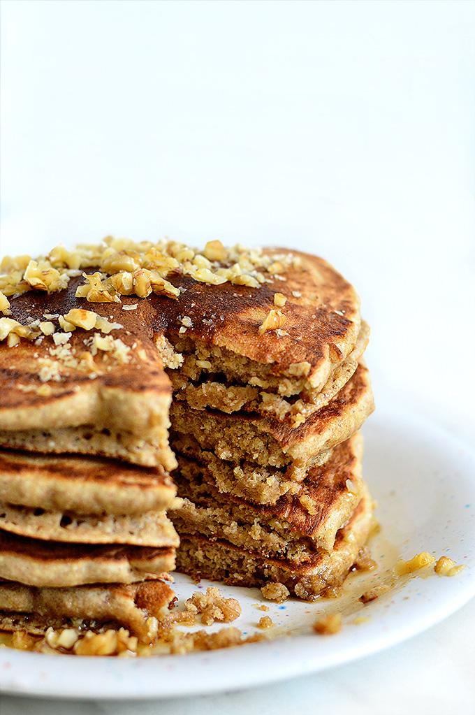 Whole Grain Vegan Fluffy Pancakes