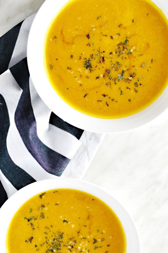 Oil Free Vegan Pumpkin Soup