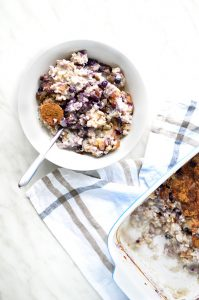 blueberries & banana porridge