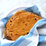 sweet potato tortillas in a napkin