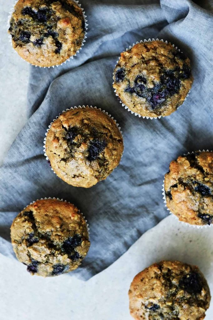 began blueberry oatmeal muffins