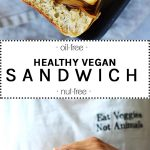 hearty vegan tofu sandwich