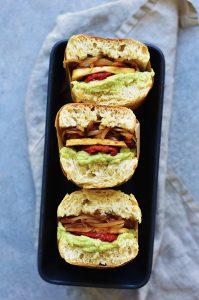 hearty vegan tofu sandwich